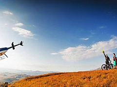 Heli Mountain Biking in the Drakensberg, South Africa