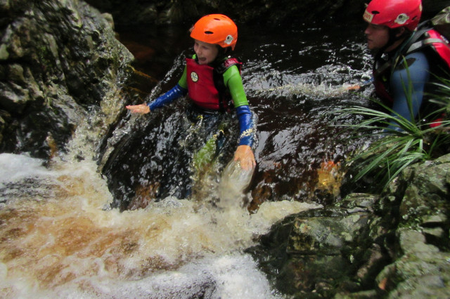 Canyoning The Crags, <a href=