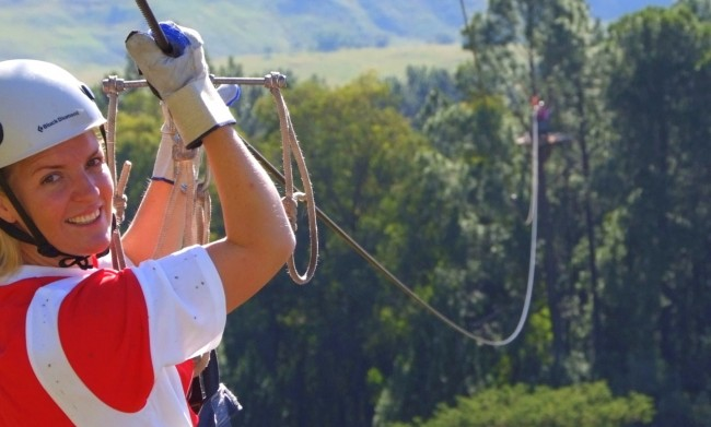 Zip Lining in the Drakensberg, South Africa
