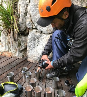 Tea time on our canopy tour in Elgin